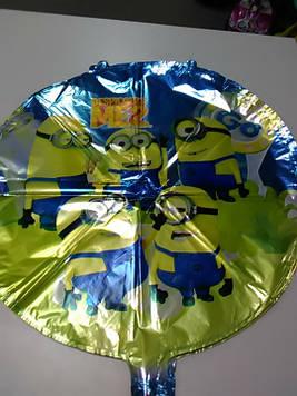 Воздушный фольгированый шарик с рисунком миньен 1шт
