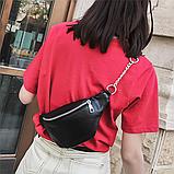 Молодежная женская сумка на пояс. Сумка-бананка. Поясная сумка., фото 3