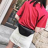 Молодежная женская сумка на пояс. Сумка-бананка. Поясная сумка., фото 4