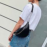 Молодежная женская сумка на пояс. Сумка-бананка. Поясная сумка., фото 7