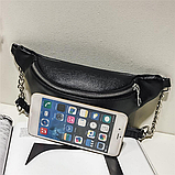 Молодежная женская сумка на пояс. Сумка-бананка. Поясная сумка., фото 8