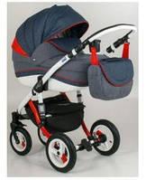 Универсальная  коляска 2 в 1 Adamex Gloria Rainbow Collection Red-Blue