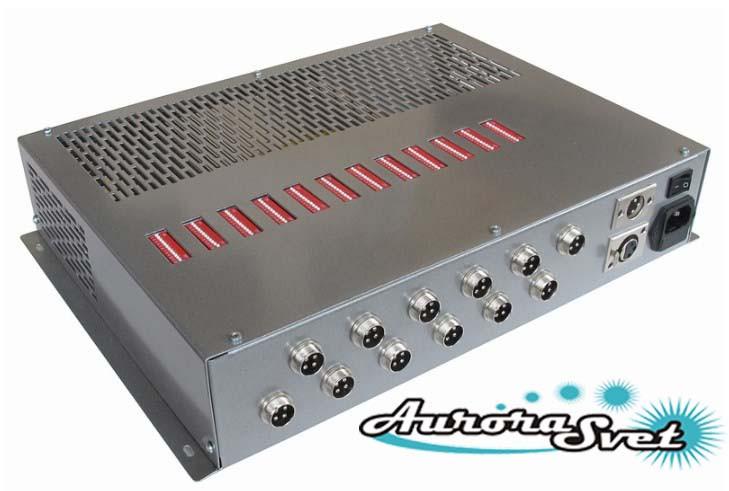 БУС-3-12-600 блок управления трехцветными светодиодными светильниками, кол-во LED драйверов - 12, мо