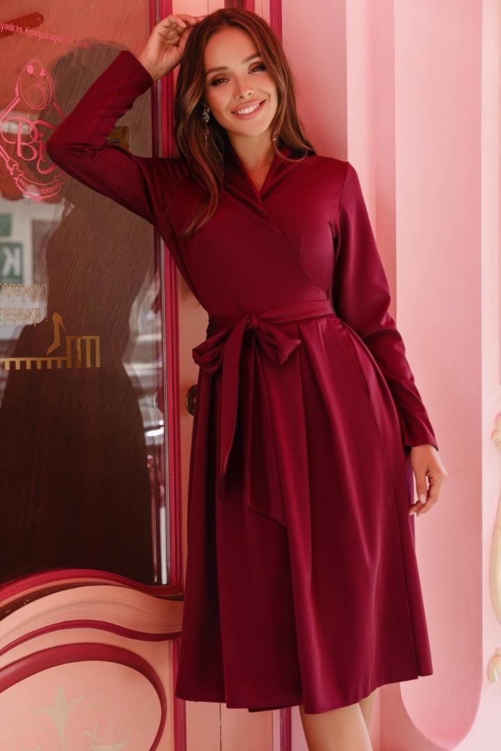 Женское платье на запах Марсала