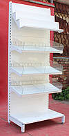 Торговый кондитерский стеллаж «Торпал» 220х90 см., полки под углом, Б/у, фото 1