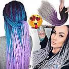 Сенегальские косы. Чёрные жгуты для волос. Разноцветные косички, фото 2