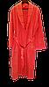 Турецкий махровый женский халат коралл, большой размер 100% Хлопок, фото 4