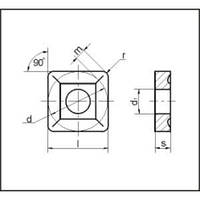 Пластина SNUM - 120408 МС221 квадратная со стружколомом