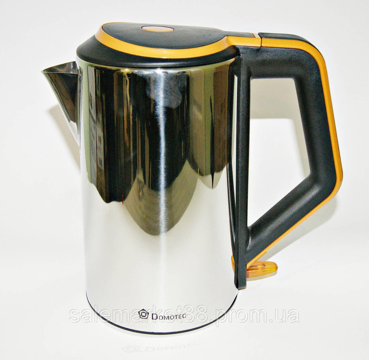 Чайник нержавейка дисковый  DOMATEC DT- 903 2 л.