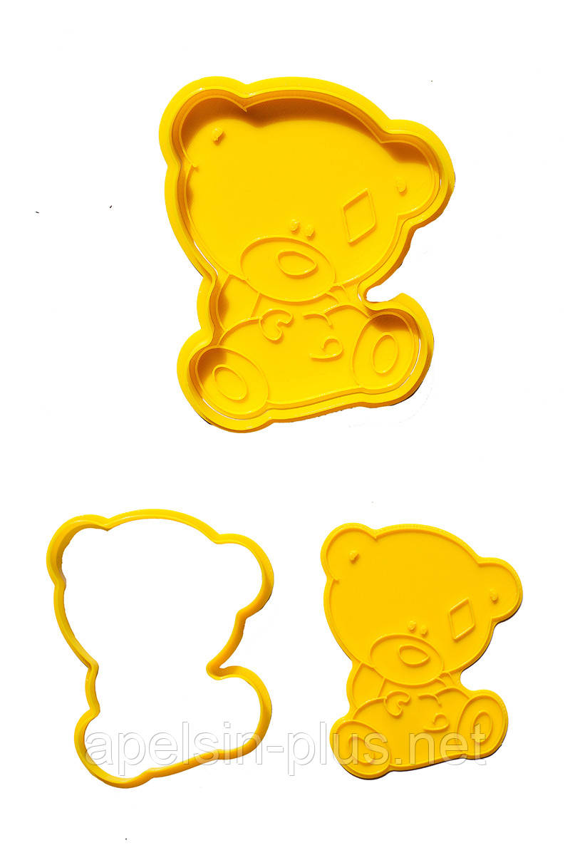 """Вырубка с оттиском для пряников """"Мишка Тедди в подгузнике"""" 12 см"""