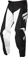 Детские мото штаны SHIFT YOUTH WHIT3 RACE PANT [BLACK WHITE], Y 26