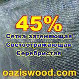 Серебристая сетка 1,5м энергосберегающая светоотражающая 45%, фото 3