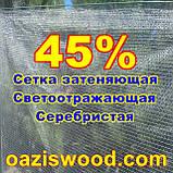 Серебристая сетка 1,5м энергосберегающая светоотражающая 45%, фото 4