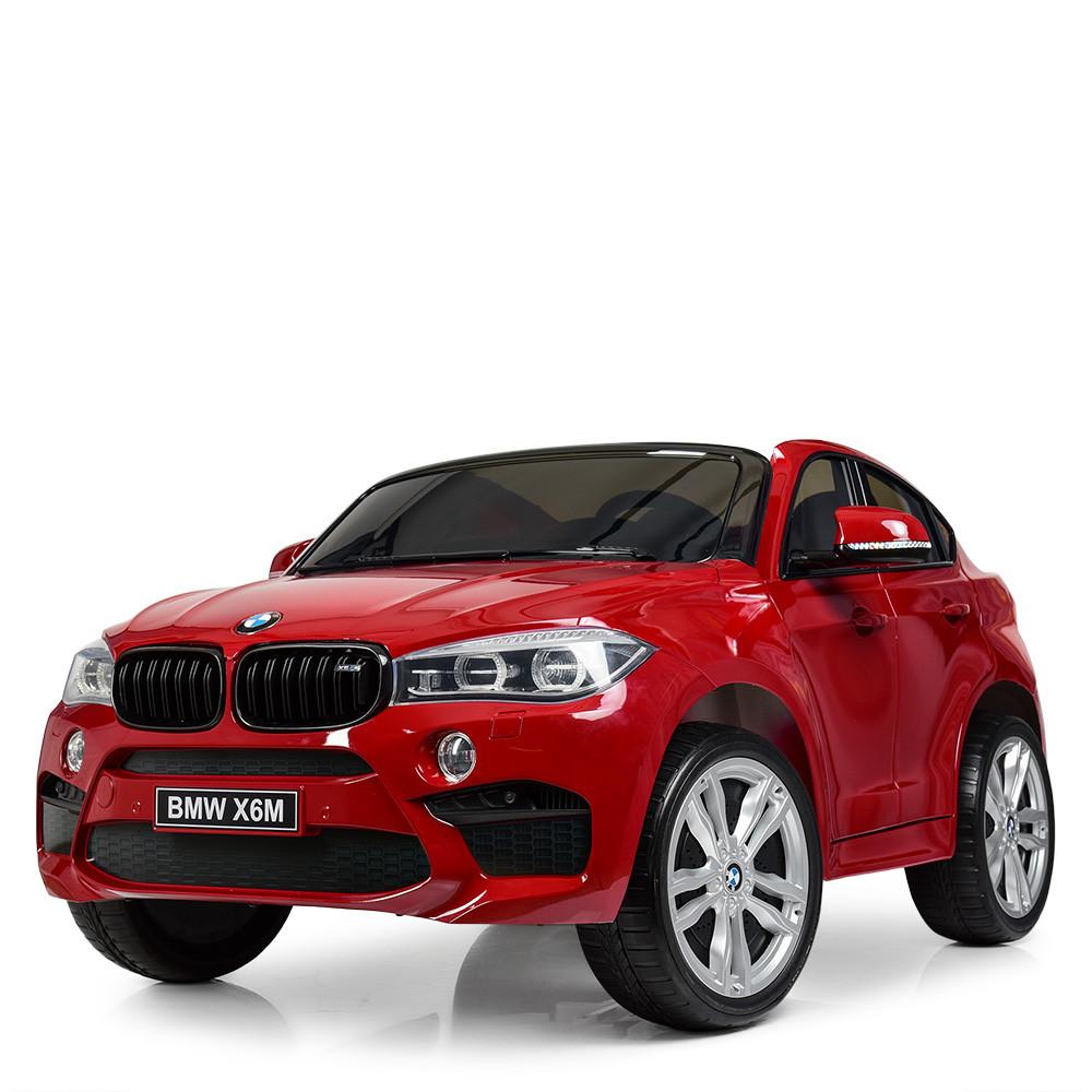 Детский двухместный электромобиль Джип BMW X6M JJ2168EBLRS-3 сидение эко-кожа, мягкие колеса,АВТОПОКРАСКА