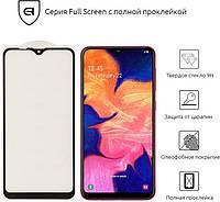 Защитное стекло 3D для Samsung Galaxy A10 (A105F) черное (полная проклейка на весь экран)