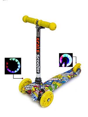 Самокат дитячий триколісний Micro Mini з малюнком Hot Wheels