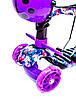 """Самокат детский Scooter 5в1 """"Орхидея"""" фиолетовый с родительской ручкой, фото 2"""