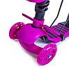 """Самокат Scooter """"Пчелка"""" 5в1 Леди Баг розовый со светом и музыкой и родительской ручкой, фото 2"""