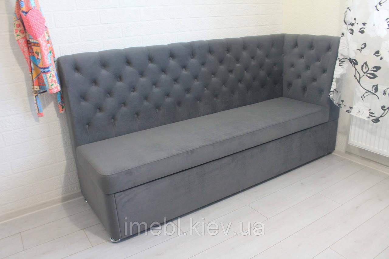 Кухонний диван зі спальним місцем (Світло-сірий)