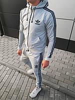 Мужской стильный спортивный костюм с капюшоном adidas(топ-реплика)