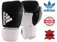 Перчатки для бокса Hybrid Dynamic Fit 200 Adidas (ADIHDF200, черно-белые с серебром)