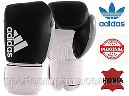 """Боксерские перчатки Adidas """"Hybrid 200 Dynamic Fit"""" (черный/белый/серебро, ADIHDF200)"""