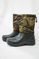 Мужские сапоги бахилы камуфляжные ( Код : БМ-12 камуфляж коричневые)