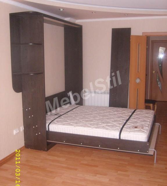 Шкаф-кровать трансформер с полочками, фото 1