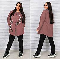 Кашемировое пальто-пончо для пышных дам
