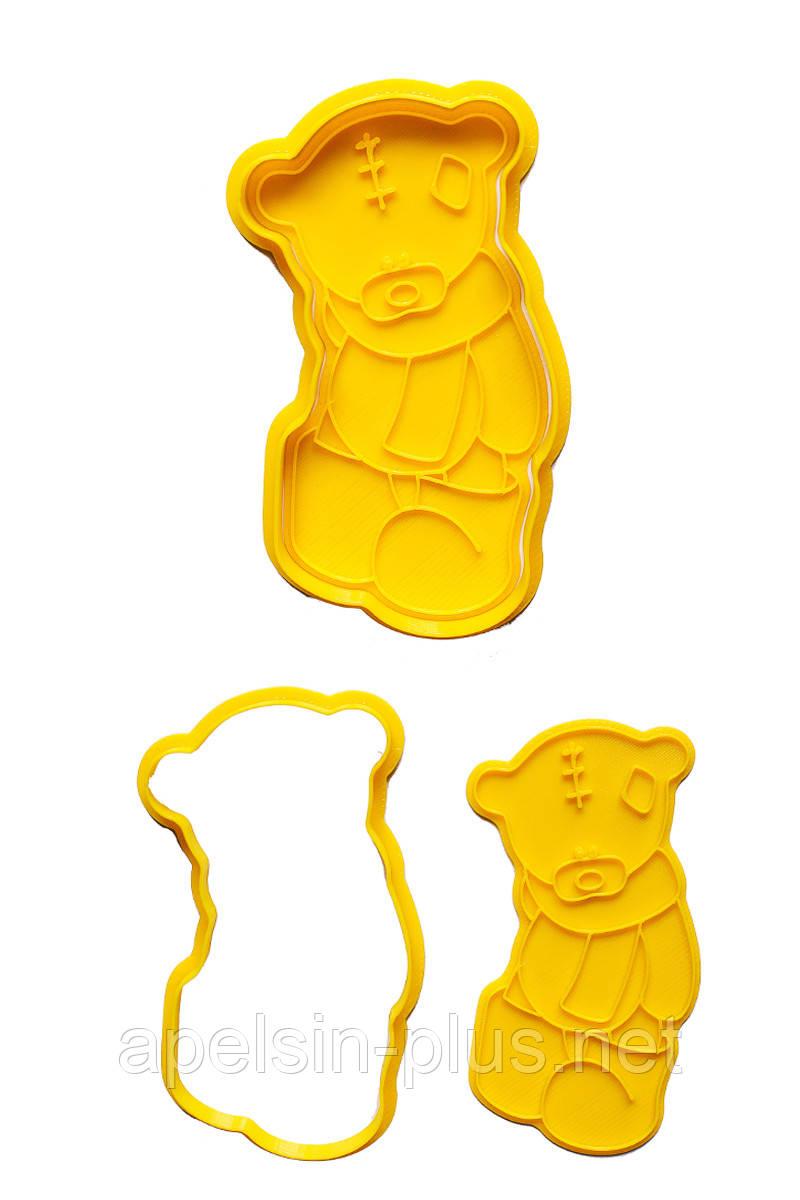 """Вырубка с оттиском для пряников """"Мишка Тедди №6"""" 12 см"""