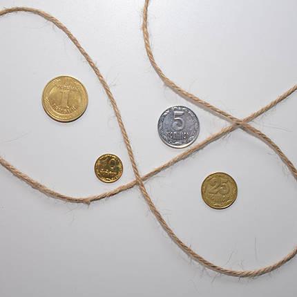 Шпагат джутовый 800 г, 2.5 мм, 3 нити, фото 2