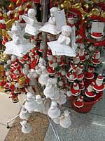 Подвеска Ангелы колокольчики, керамика, цвет белый, Н60 см