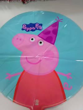 Воздушный фольгированный шарик с рисунком свинка пеппа 1шт