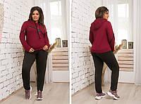 Модный женский спортивный костюм ,ткань двунитка,размеры:48,50,52,54., фото 1