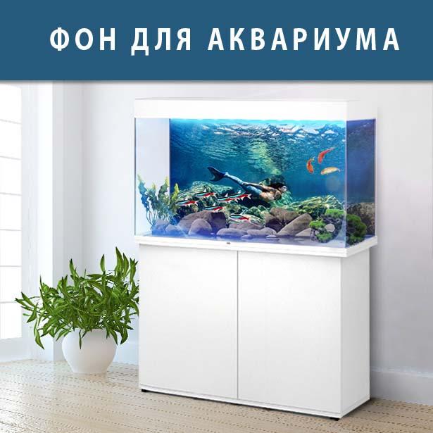 Наклейка с рыбами и морской флорой для аквариума 40х65 см.