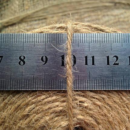 Шпагат джутовый 300 г, 2.5 мм, 3 нити, фото 2