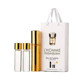 Парфюмерная вода мужская Yves Saint Laurent L`Homme, 3x15 мл