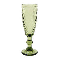 """Бокал для шампанского """"Изумруд 2"""" зеленый 150 мл, 34215-12-1"""