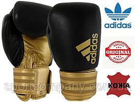 """Боксерские перчатки Adidas """"Hybrid 200"""" (черный/золотой, ADIH200BR)"""