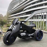 Детский электромобиль Мотоцикл M 3926 A-2, BMW_Hurricane, надувные колеса, черный