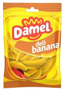 Жуйки Damel 100г Bananas банани, 18шт/ящ 63143