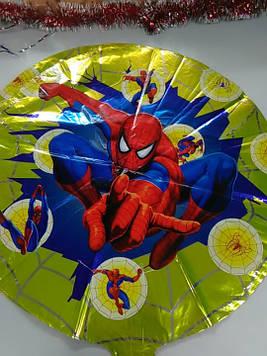 Воздушный фольгированный шарик с рисунком человек паук 1шт
