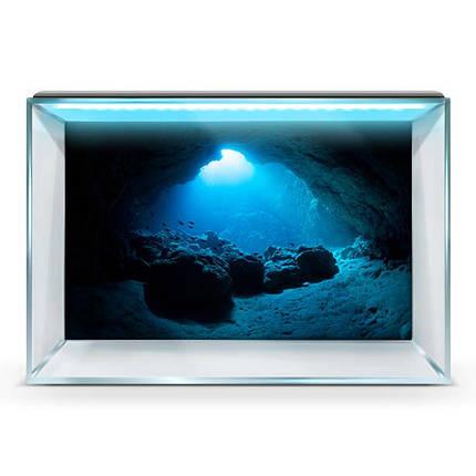Море для аквариума наклейка с рыбами 40х65 см., фото 2