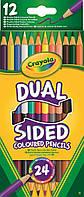 Кольорові олівці двосторонні 12шт. 3+, 68-6100