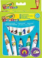 """Кольорові олівці для малюків """"Веселі тваринки"""" 8 кольорів,1+, 3678"""