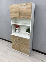 Лаборатория, шкаф для салона красоты. Модель V472 белый / дуб сонома, фото 1