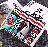 Комплект из 4 шт женских трусов шорт Мультфильм Комикс Размер M