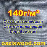 Серебристая сетка 3м 140г/м² фасадная, энергосберегающая, светоотражающая. Степень затенения до 99%, фото 5