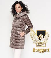 Braggart Angel's Fluff 35120 | Длинный воздуховик осенне-весенний темная пудра