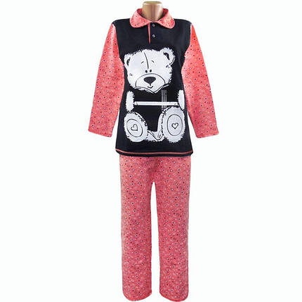 Теплая пижама начесная Мишка оптом и в розницу, фото 2